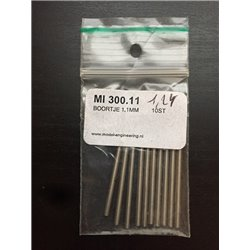 MODEL ENGINEERING MI300.11 Foret 1.1mm 10pcs