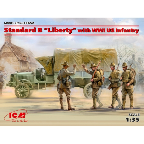 ICM 35652 1/35 Standard BLiberty with WWI US Infantry Limited