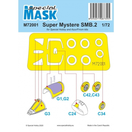 SPECIAL HOBBY M72001 1/72 SMB-2 Super Mystere Mask