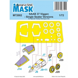 SPECIAL HOBBY M72002 1/72 SAAB 37 Viggen Single Seater Mask
