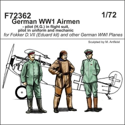 CMK F72362 1/72 German WW1 Airmen-pilot(H.G.)in flight suit,pilot in uniform a.mechanic