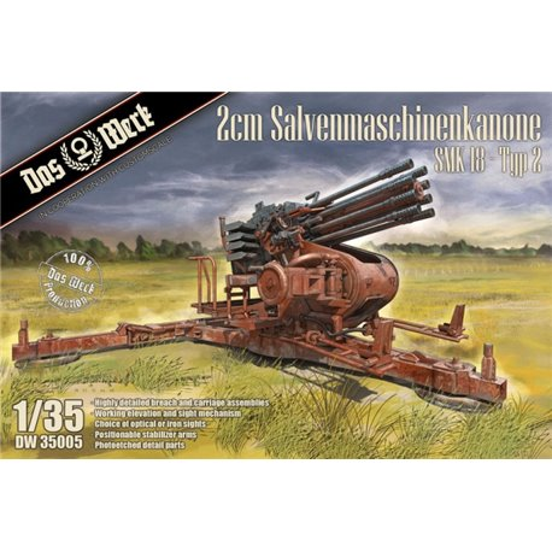 DAS WERK DW35005 1/35 2cm Salvenmaschinenkanone SMK 18 Typ 2