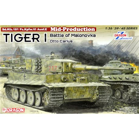 DRAGON 6888 1/35 Tiger I Mid-Production w/Zimmerit Otto Carius