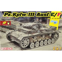 DRAGON 6944 1/35 Pz.Kpfw.III Ausf.E/F (Smart kit) (2 in 1)