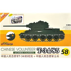 DRAGON 9158 1/35 Chinese Volunteer T-34/85