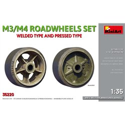 MINIART 35220 1/35 M3/M4 ROADWHEELS SET. WELDED TYPE AND PRESSED TYPE