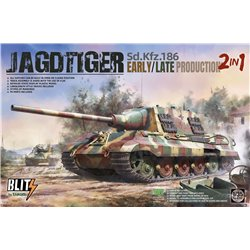 TAKOM 8001 1/35 Sd.Kfz.186 Jagdtiger early/late production 2 in 1