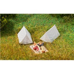 FALLER 180987 HO 1/87 4 Tentes - 4 Tents