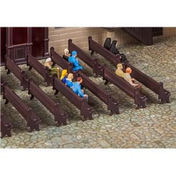 FALLER 180989 HO 1/87 7 Church benches