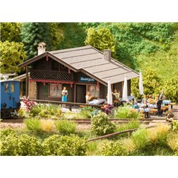 "NOCH 66403 HO 1/87 Alpine Hut ""Christl"" with micro-motion waitress"