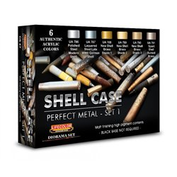 LIFECOLOR CS47 SHELL CASE Perfect Metal - SET1 6 x 22 ml