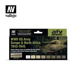 VALLEJO 71.625 WWII US Army Europe & North Africa 1942-1945 8X17ML