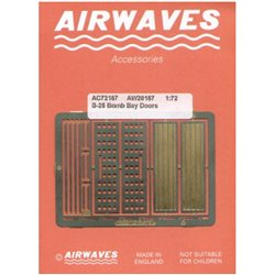 AIRWAVES AC72157 1/72 North American B-25 Mitchell Bomb Bay Doors PE