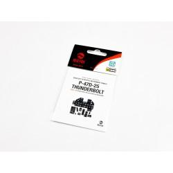HGW MODELS 481000 1/48 Free Lines Black Positive Rivets 647cm