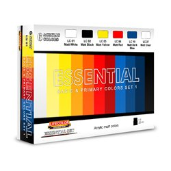 LIFECOLOR ES01 Essential Basic & Primary Colors Set 1