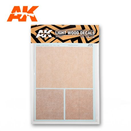 AK INTERACTIVE AK9081 LIGHT WOOD DECALS 1/32 – 1/48