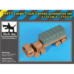 BLACK DOG T72115 1/72 M977 Cargo Truck Canvas