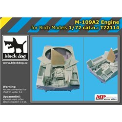 BLACK DOG T72114 1/72 M109 A2 engine for Riich Model