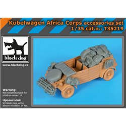BLACK DOG T35219 1/35 Kübelwagen Africa Corps accessories set for Tamiya