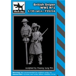 BLACK DOG F35216 1/35 British sniper WW I N°1