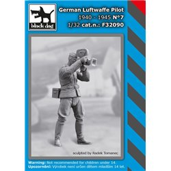 BLACK DOG F32090 1/32 WW II German Luftwaffe Pilot N°7 1940-45