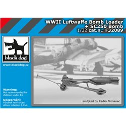 BLACK DOG F32089 1/32 WW II Luftwaffe bomb loader + SC250