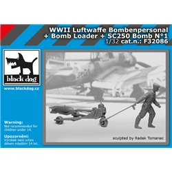 BLACK DOG F32086 1/32 WW II Luftwaffe Bombenpersonal + b.loader +SC250 N°1