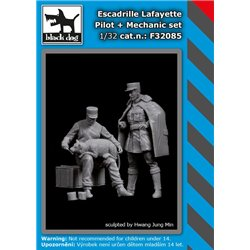 BLACK DOG F32085 1/32 Escadrile Lafayete pilot + mechanic set