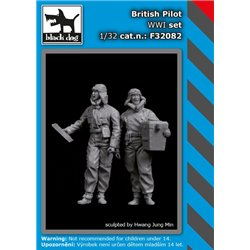 BLACK DOG F32082 1/32 British pilot WW I Set