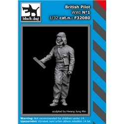 BLACK DOG F32080 1/32 British Pilot WWI N°1