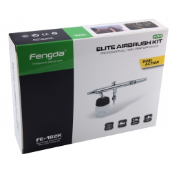 FENGDA BD-182K Airbrush With 0.3, 0.5 and 0.8mm Nozzle