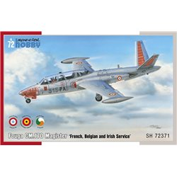 SPECIAL HOBBY SH72371 1/72 Fouga CM.170 Magister 'French, Belgian and Irish Service'