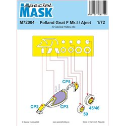 SPECIAL HOBBY M72004 1/72 Folland Gnat/Ajeet Mask