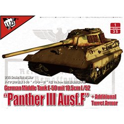 "MODELCOLLECT UA35015 1/35 German Middle Tank E-50 mit 10.5cm L/52 ""Panther III Ausf.F"""