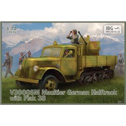 IBG MODELS 72075 1/72 V3000SM Maultier German Halftrack with Flak 38
