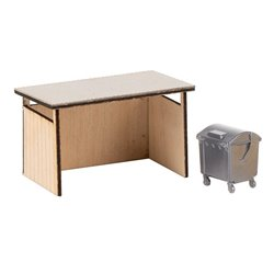 FALLER 180300 1/87 Dustbin booth with salvaged material container