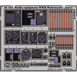 EDUARD 36162 1/35 Radio equipment WWII Wehrmacht-colour