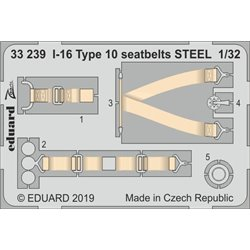 EDUARD 33239 1/32 I-16 Type 10 seatbelts STEEL