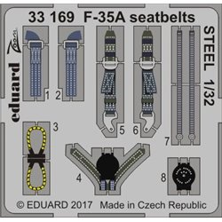 EDUARD 33169 1/32 F-35A seatbelts STEEL