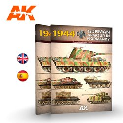 AK INTERACTIVE AK916 1944 GERMAN ARMOUR IN NORMANDY – CAMOUFLAGE PROFILE GUIDE (English)
