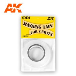 AK INTERACTIVE AK9125 MASKING TAPE FOR CURVES 6 MM. 18 METERS LONG.