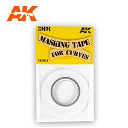 AK INTERACTIVE AK9124 MASKING TAPE FOR CURVES 3 MM. 18 METERS LONG.