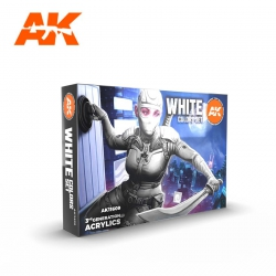 AK INTERACTIVE AK11609 WHITE COLORS SET