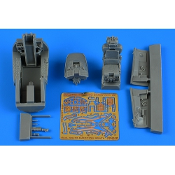 AIRES 4810 1/48 F-104G Starfighter cockpit set (M.B. GQ-7A ej. seat) for Kinetic