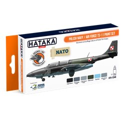 HATAKA HTK-CS46 Polish Navy / Air Force TS-11 paint set (6 x 17 ml)