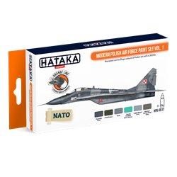 HATAKA HTK-CS17 Modern Polish Air Force paint set vol. 1 (6 x 17 ml)