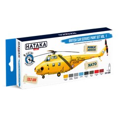 HATAKA HTK-BS98 British SAR Service paint set vol. 1 (8 x 17 ml)