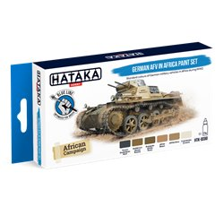 HATAKA HTK-BS90 German AFV in Africa paint set (6 x 17 ml)