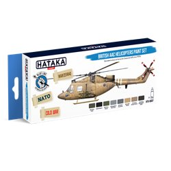 HATAKA HTK-BS87 British AAC Helicopters paint set (8 x 17 ml)