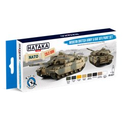 HATAKA HTK-BS77 Modern British Army & RAF AFV paint set (8 x 17 ml)